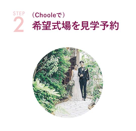 STEP-2 (Chooleで)希望式場を見学予約