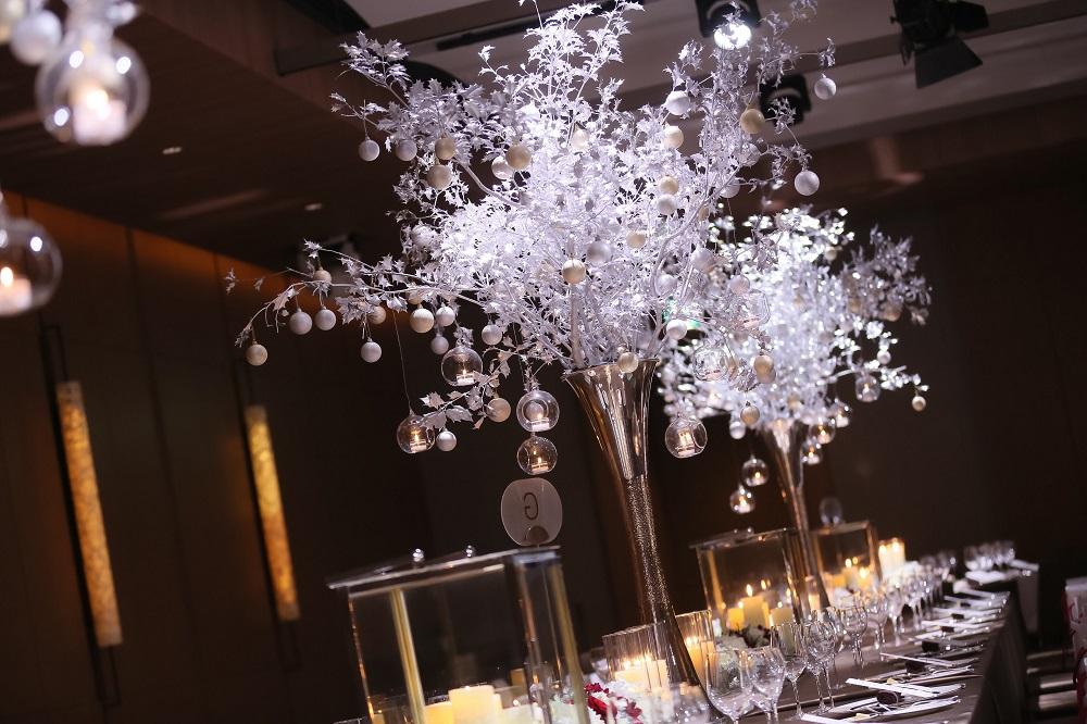 卒花のテーブルコーディネート